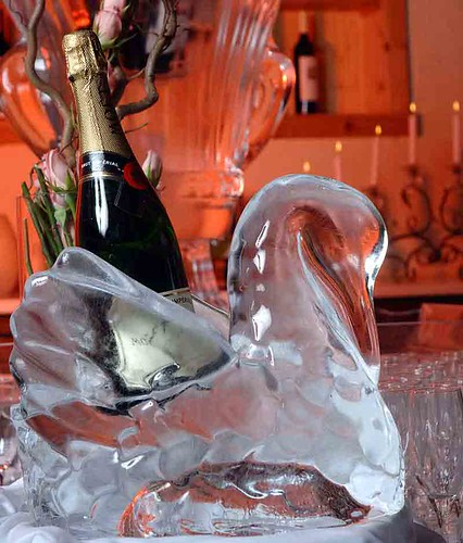 Swan Ice Sculpting Art