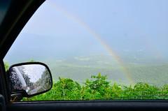 rainbow driveby (tripod_treker) Tags: blueridgeparkway