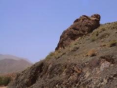Sleeping troll outside Abyaneh
