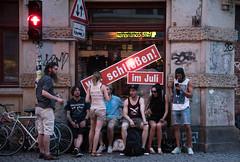 Schließen! Im Juli! (grapfapan) Tags: street city people urban dresden streetlife neustadt