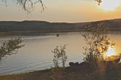 Sunset, in Madawaska (Sylvie Poitevin Photography) Tags: camping lake ontario logcabin madawaska
