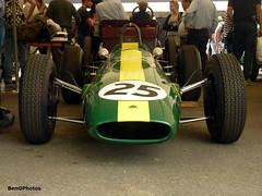 Lotus Type 25 (BenGPhotos) Tags: show green sports car wheel yellow race one 1 open lotus grand f1 racing prix event 25 single type formula british fos 1962 goodwood motorsport climax festivalofspeed 2015 seater