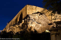 The Acropolis of Athens at night. (Garnham Photography) Tags: old art history classic tourism archaeology monument rock stone architecture night port greek temple evening coast ancient ruins theater place famous hill ruin scenic cities culture hellas landmark athens structure historic unesco parthenon greece coastal historical classical coastline column acropolis past athena archeology attraction touristattractions touristic piraeus attica greektemple destinations akropolis hellenic traveldestinations philopappos touristdestination traveldestination filopappos