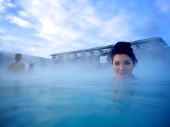 Toni at the Blue Lagoon (rob cheatley) Tags: iceland reykjavik bluelagoon waterproof waterproofcamera olympustg3