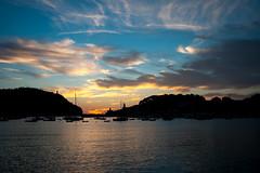 Sunset Sky (TroonTommy) Tags: sunset summer holiday seascape marina spain harbour mallorca majorca portdesoller 2015 puertodesoller