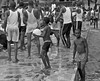poolside near the Volta River, Ghana (Pejasar) Tags: pool swimming group candid boys men dance voltariver ghana