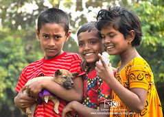 Friends (Suman Kalyan Biswas) Tags: street love children friends dhubulia portraiture expression outdoor puppy dog animallovers caring play emotion nature face smile fun streetphotography candidphotography ruralculture incredibleindia childhood portrait ruralindia kids people happiness westbengal india