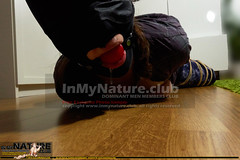 DSC04128 (InMyNature.Club) Tags: bondage shibari tied up bound roped gag gagged ballgagged hooded blindfolded barefoot topless girl girlfriend amateur damsell distress