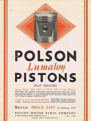 Polson Pistons 1932 (Runabout63) Tags: polson piston lumaloy