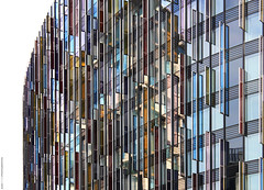Park Plaza Hotel Westminster (AlexUpton.) Tags: plaza hotel parkplazahotel londonarchitecture architecture building glass abstract colourful buj architects london windows