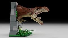 Lego Ideas Trex Bust / Bookend (senteosan) Tags: lego trex leg ideas tyrannosaurus rex jurassic park sami mustonen bookend bust dinosaur statue movie