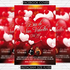 Dia de San Valentin - Premium Flyer Template (ExclusiveFlyer) Tags: diadesanvalentin fiesta flyer happyvalentinesday happyvalentines heart kiss love loveday lovers night noche party red romantic