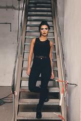Cagla (absimilard) Tags: girl boots allblack fashion strong confident glowing eyes karlsruhe