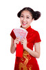 Asian woman with red pocket for chinese new year (anekphoto) Tags: new year girl woman foil isolated cheongsam pocket mandarin white fortune chinese red culture celebrate wealth people one cutout traditional hold female asia portrait smile dress lady youth korean young money gold person festival lucky beautiful background pretty japanese hand asian lunar happy china bonus price cash pay salary yuan