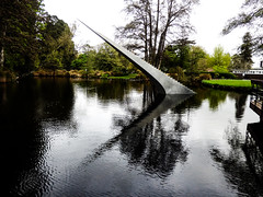 Diminish and Ascend (Steve Taylor (Photography)) Tags: diminishandascend davidmccracken lake steps taper scape botanicgardens kiosk art sculpture grey concrete newzealand nz southisland canterbury christchurch hagleypark trees grass shape curve diagonal cloud staircase
