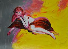 Jackie Curtis (BKHagar *Kim*) Tags: bkhagar art artwork painting paint acrylic portrait jackiecurtis dragqueen johncurtisholderjr impressionist