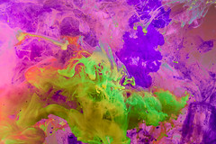 Aqueous Abstract - Mardi Gras (4832) (jim fleckenstein) Tags: colorful mardigras paint liquid aqueous abstract ethereal canon eos 70d sigma 24105mm ephemeral brilliant