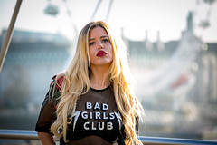 When a Good Girl goes Bad.... (HMPHOTOLONDON) Tags: london photographer jubileebridge waterloo female femalemodel badgirl londoneye