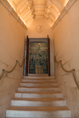 Escalier du 2ème étage, Château de Chenonceau