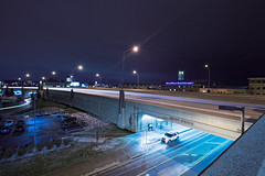 US-131 at Front Ave (cvan1978) Tags: nightphotography longexposures freeway grandrapids michigan