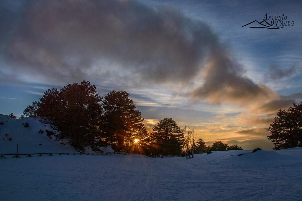 Etna , tramonto