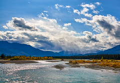 Athabaska River (martincarlisle) Tags: jaspernationalpark alberta canada canadianrockies rockymountains rockies nationalparks mountainparks parks athabaskariver rivers mountains clouds sky autumn fall canonxsi tamronlenses captureonepro10 niksoftware nwn wow