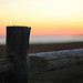 New England Wooden Fence Sunset