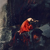 the song of time (brookeshaden) Tags: life selfportrait painterly texture fairytale death waterfall iceland moss blood rocks poetry fineart surreal squareformat cave conceptual reddress darkart vulnerable brookeshaden
