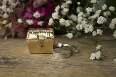 Unity Coins chest & Wedding Rings (monica.chevez) Tags: flowers wedding coins rings unitiy