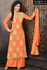 Akshara Embroidered Light Orange Palazzo Suit