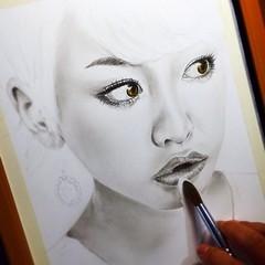 Repost from @akira_art_style Work in progress2⃣ #桐谷美玲  ♦️♦️♦️♦️♦️♦️♦️♦️♦️♦️