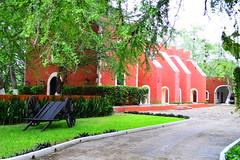 Little town, it's a quiet village. (melycgcg) Tags: orange colors mexico yucatan mexican merida hacienda