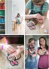 Door handle sign (Craft & Creativity) Tags: inspiration rabbit diy beads tutorial hama perlerbeads nabbi makecreate doorhandlesign