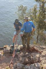 Reading to rock 'climb' down (bobmendo) Tags: descent brisbane goingdown descending endofhisrope july2015
