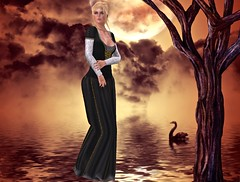 Sweet Kajira - Salima black - rare_001 (mondi.beaumont) Tags: life woman girl fashion 30 vintage for women gate dress sweet avatar linden fair avi sl second gown olga rare salima 30l kajira ultrarare gorean