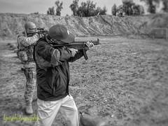 Memories (Halcon122) Tags: bw iraq memory shooting practice range mp5 selfie 2011