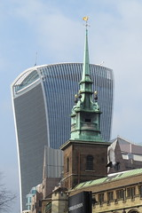 All Hallows by the Tower and the Walkie Talkie building (Ian Press Photography) Tags: london all hallows by tower walkie talkie building city sky scraper skyscraper office offices block architecture walkietalkie church