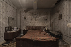 The lights are on but..... (Kriegaffe 9) Tags: bedroom house home retro religious