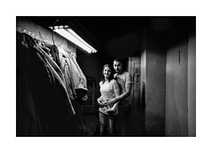 Husband and wife (Jan Dobrovsky) Tags: document leicam monochrome northernbohemia portrait grain contrast people indoor village countryside monochrom countrylife gypsies family