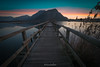 Sunrise In Torbiere (lucascalmati) Tags: torbiere iseo lake lago water acqua sunrise alba nikon mountain pontile pier