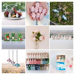 bestnine2016E (free_dragonfly) Tags: miniature collage toys cute animals matchbox art elephant frog owl bunny rabbit dog cat necklace jackalope