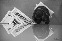 Riflessi (D.C photo) Tags: pianoforte music sound notes mountain playspiano riflessi mirror reflex courmayeur montblanc monochromatic monochrome young boy bw blackandwhite biancoenero streetphotography