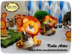 LEÃO PORTA GARRAFINHA (KEILARTES) Tags: lembrancinhas chádebebê leão feltro felt decoraçãochádebebê lembrancinha chá de bebê keilaartes keila feltrofelt