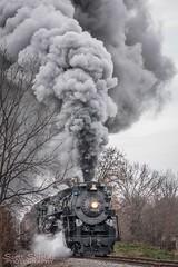 Heading out (Scott Shields Photo) Tags: pere marquette 1225 steam sri railroading institute owosso michigan 2016 npe north pole express npe2016