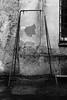10. Swing frame, closed backyard (kotmariusz) Tags: swing frame bw blackandwhite monochrome wall decay poland świdnica canon huśtawka ściana polska rama