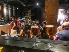 Beer in wineglasses, love it!