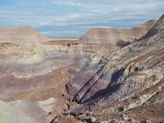 Petrified Forest National Park (Lena and Igor) Tags: travel us usa arizona petrifiedforest nationalpark scenic purple clay hills blue sky clouds landscape panasonic dmc zs50 pointandshoot nature outdoor wow