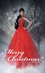 MERRY CHRISTMAS To All My Dear Friends (Culte De Paris) Tags: merry christmas 2016 dolls fashionista red party dress santa baby holiday season holidays gifts celebration jadore elise jolie brunette glam outfit it integrity toys culte de paris julia leroy jason wu haute couture crimson snowfall family vacation miniature postcard handmade barbie wardrobe parisian style editorial