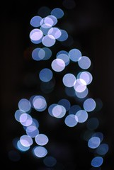 Christmas Tree bokeh (zawtowers) Tags: christmas tree led lights bokeh dof depth field kit lens blue black xmas reflective spiral random pattern