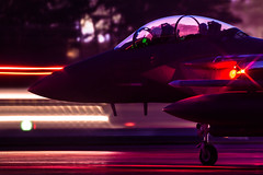 """Had to work Late Tonight!"" (Steve Cooke-SRAviation) Tags: 48thfighterwing 492fs 493fs 494fs 500mm 5d3 canon f15eagle f15c f15e nightops raflakenheath sraviation usaf usafe sunset explore"
